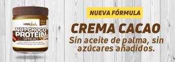 CREMA HIPERPROTEICA DE CACAO Y AVELLANAS BAJA EN AZÚCAR