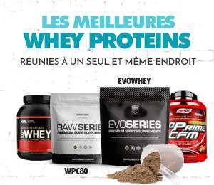 Les meilleures Whey Proteins, RÉUNIES À UN SEUL ET MÊME ENDROIT